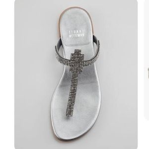 Lightly Worn Stuart Weitzman Vanity Jewel Sandals